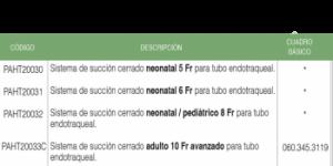 Sistema de succión cerrado adulto 14 FR para traqueostomia PAHSCO